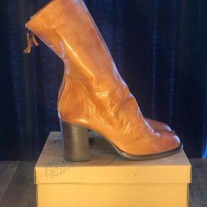 Free People Elle Block Heel Boots-Tan